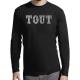 """T-shirt manches longues homme """"Tous blanc"""""""