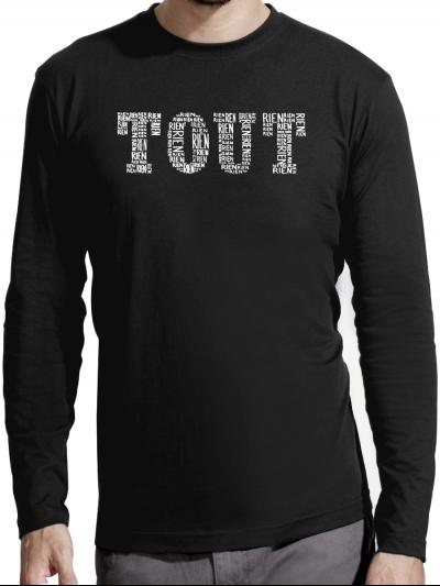 """T-shirt manches longues homme """"Tout blanc"""""""