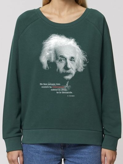 "SWEAT-SHIRT  loose  ""EINSTEIN"""