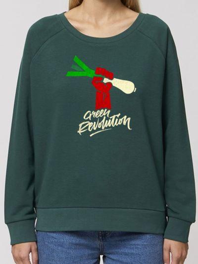 "Sweat-shirt loose ""Green revolution"""