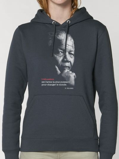 "SWEAT FEMME CAPUCHE ""Mandela"""