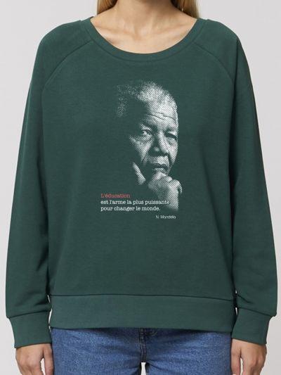 """SWEAT-SHIRT  loose  """"Mandela"""""""