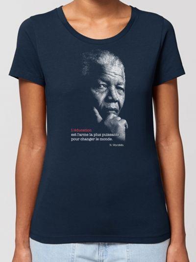 "TEE SHIRT BIO FEMME ""Mandela"""