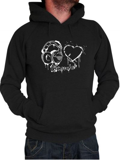 "Sweat homme ""Ecoute ton coeur"""