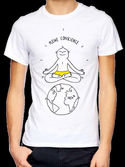 """T-shirt homme """"Pleine conscience"""""""