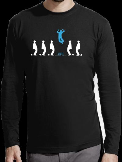 """T-shirt manches longues homme """"Ouvrir son esprit"""""""