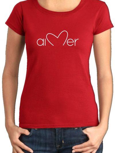 """T-shirt femme """"Aimer"""""""