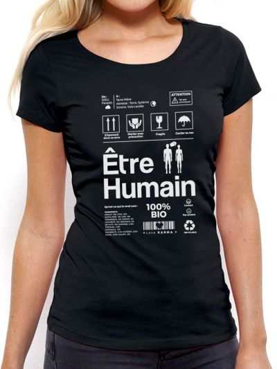 """T-shirt femme """"Etre Humain"""""""