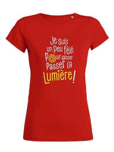 """T-shirt femme """"Je suis un peu fêlé"""""""