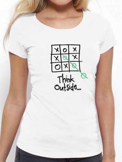 "T-shirt femme ""Think outside"""