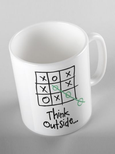 "MUG ""THINK OUTSIDE"""