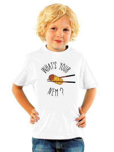 """T-shirt enfant """"What 's your nem ?"""""""