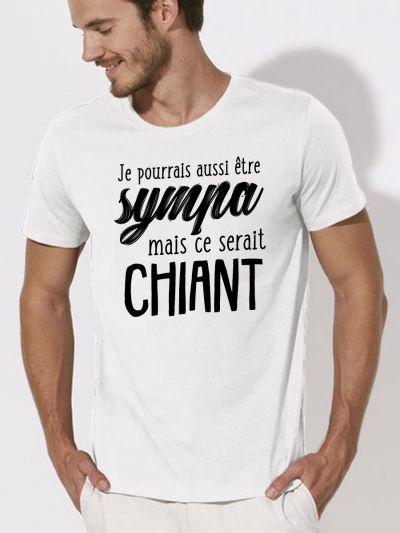 """T-shirt homme """"je pourrais être sympa mais ce serait chiant"""""""