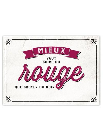 """Carte Postale """"Boire du rouge..."""""""