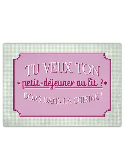 """Carte Postale """"Petit déjeuner au lit..."""""""