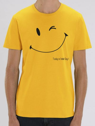 "T-shirt homme ""TODAY IS SMILE DAY"""