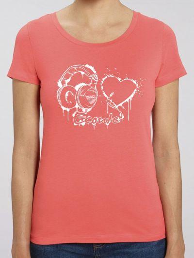 "T-shirt femme ""ecoute ton coeur"""