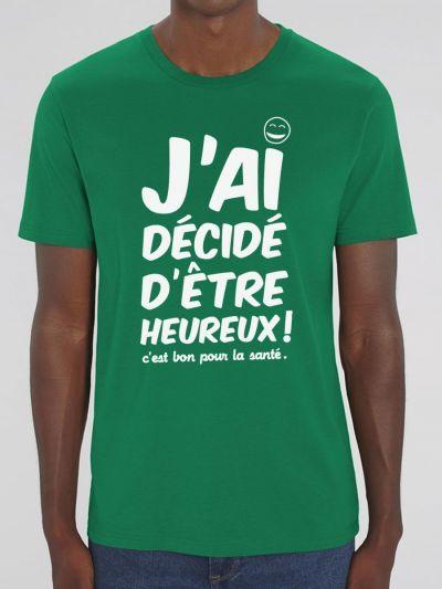 "T-shirt homme ""je decide"""