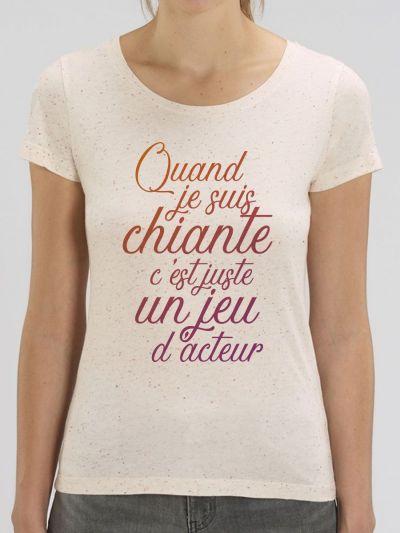 "T-shirt femme ""Jeu d'acteur"""