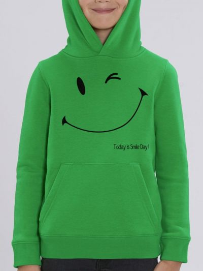 "Sweat enfant ""Today is smile day"""