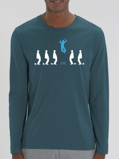 """T-shirt manches longues homme """"Vivre"""""""
