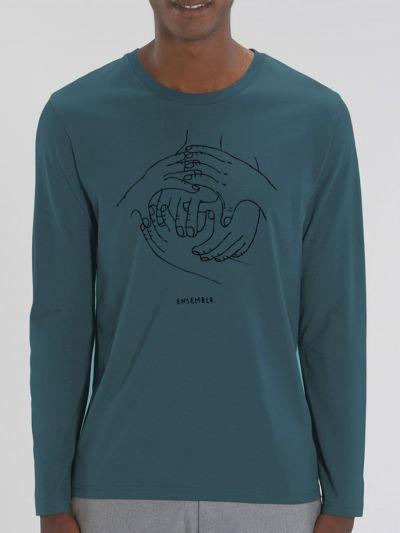 """T-shirt manches longues homme """"Ensemble"""""""