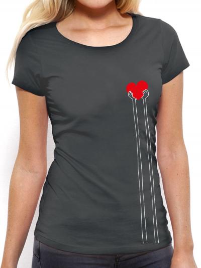 """T-shirt femme """"Coeur foncé"""""""