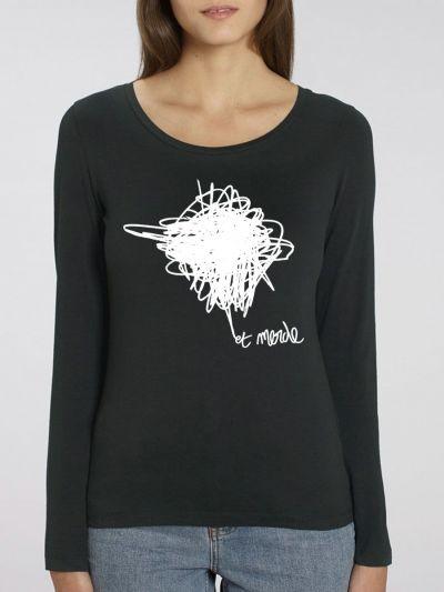 """T-shirt manches longues femme """"Et merde"""""""