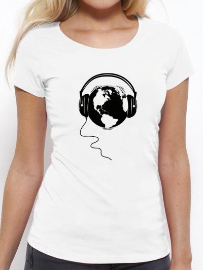 """T-shirt femme """"Écoute la terre"""""""
