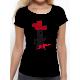 """T-shirt femme """"Lève toi noir"""""""