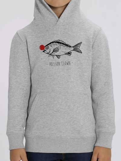 "Sweat enfant ""POISSON CLOWN"""