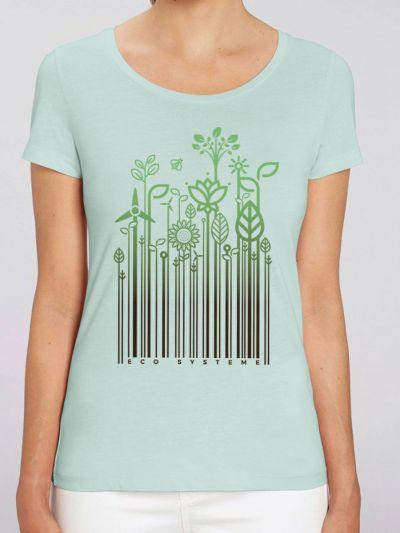 """T-shirt femme BIO """"Eco sytème"""""""