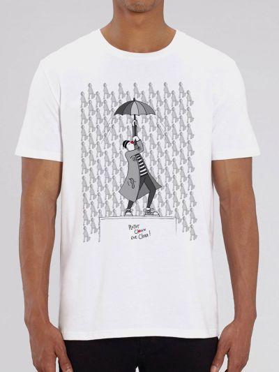 "Tee shirt homme ""Plutôt clown que clone"""