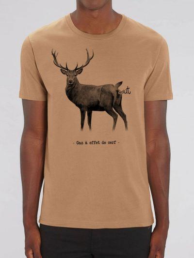 """T-shirt Homme Gaz a effet de """"Cerf"""""""