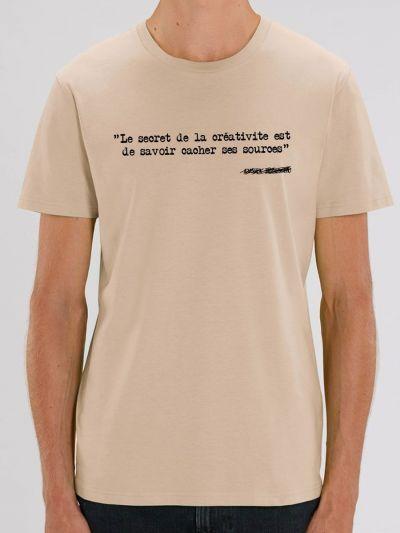 """Tee shirt homme """"Le secret de la créativité est de savoir cacher ses sources"""""""