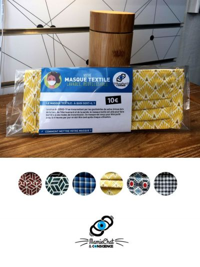 Masque Tissu Protection COVID 19  Réutilisable COTON
