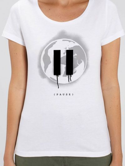 "T-shirt femme BIO ""PAUSE"""