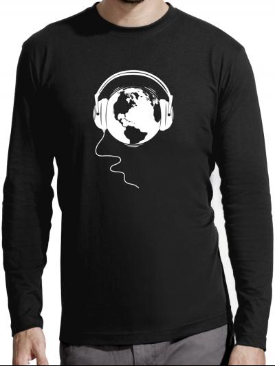 """T-shirt manches longues homme """"Ecoute la terre"""""""