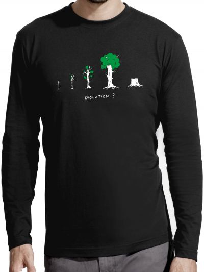 "T-shirt manches longues homme ""Evolution"""