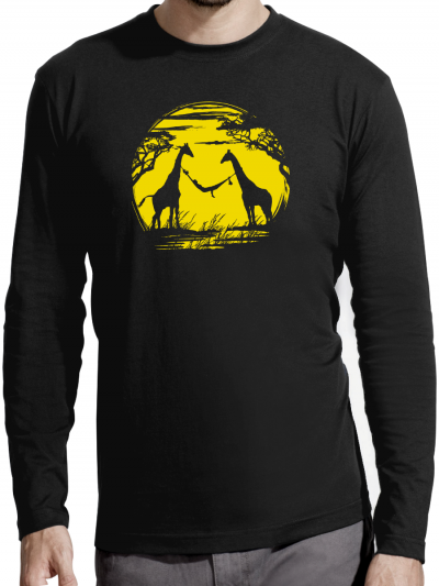 """T-shirt manches longues homme """"Girafe"""""""