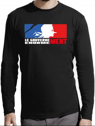 """T-shirt manches longues homme """"Gouvernement"""""""