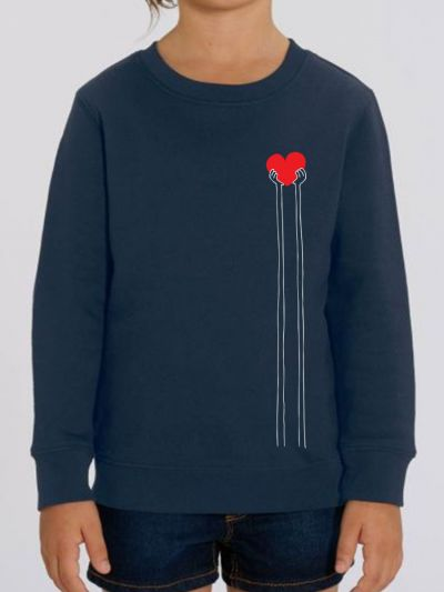 "Sweat-shirt enfant ""Main cœur"""